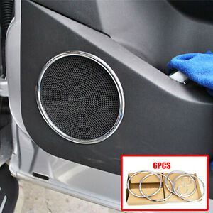 Fit For Ford Escape Kuga 13 18 Chrome Door Stereo Speaker Collar Cover Trim Ring