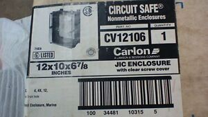 Carlon Cv12106 12x10x6 Nonmetallic Circuit Safe Enclosure New