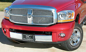 2006 2007 2008 Dodge Ram 1500 2pc Heavy Metal Mesh Grille Grill E