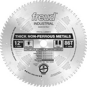 12 X 86 Tooth Tcg Carbide Non ferrous Metal Blade Freud Lu89m012 New