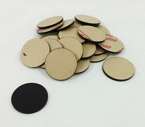 Lot Of 100 Black Disc Plastic Approximately 1 5 Diameter Art Craft Project Kid