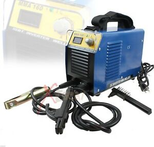 New Mma 160 Amp 30 160a Rod Weld Dc Inverter Arc Welderwelding Machine