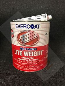 Evercoat High Production Lite Weight Plastic Body Filler Gallon Evercoat 151