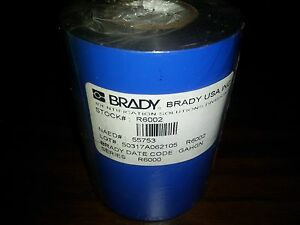 New Brady 55753 R6002 Black Thermal Transfer Printer Ribbon 3 27 X 984