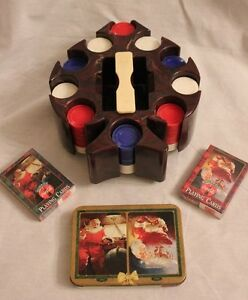 Vintage Poker Chip Spinner! Maroon Marbleized! Spade Shaped! + Coca Cola Cards!