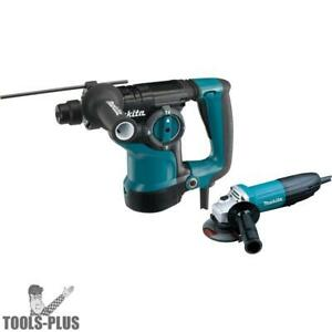1 1 8 Sds plus Rotary Hammer W 4 1 2 Angle Grinder Makita Hr2811fx New