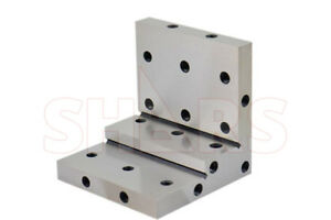 Shars Angle Plate 4x4x4x1x1 2 Precision Steel Ground 0 0002 W Tapped Holes