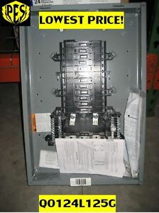 new Low Price Square D Qo124l125g Load Center W cover 125 Amp Nib