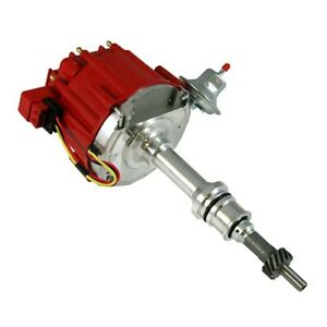 Small Block Ford 260 289 302 Complete Hei Distributor Red Cap 65k Ignition Coil