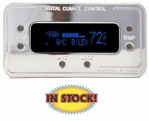 Climate Control Panel For Vintage Air Gen Ii Chrome With Blue Dcc 2200 c b