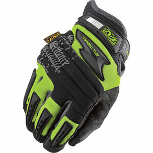 Mechanix Wear Safety M pact 2 Gloves High visibility Yellow Large sp2 91
