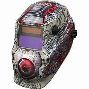 Lincoln Variable shade Auto darkening Welding Helmet Bloodshot Eyeball Design