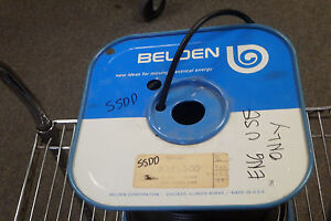 Belden 8281 500 Coaxial Cables 20awg 1c Shield 400ft Spool Black