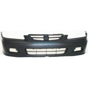 New 2001 2002 Fits Honda Accord Front Bumper Cover Primed Coupe Ho1000195