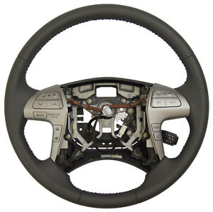 2007 2011 Toyota Camry Steering Wheel Gray Leather New Oem Complete 4510006d90b0