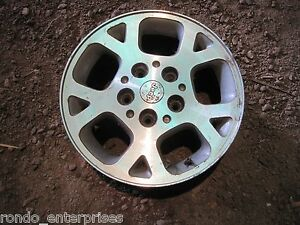 99 02 Jeep Grand Cherokee 16 X 7 5 Lug Bolt Aluminum Rim Wheel Oem W9