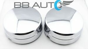 Rear Wheel Chrome Center Hub Caps Pair For 2003 2017 Dodge Ram 3500 1 ton Dually