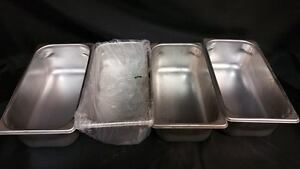 Polar Ware Steam Table Pan E12064 Stainless Steel 3 3 4 Qt 3 55l Lot Of 4