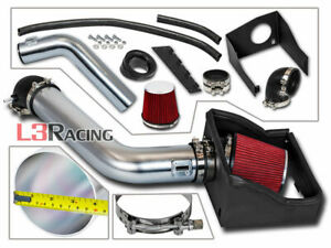 4 Red Filter Cold Air Intake Kit Heat Shield For 09 10 Ford F150 5 4l V8