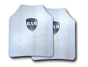 Body Armor Bullet Proof Plates ArmorCore Level IIIA 3A FLAT 10x12 PAIR $85.85