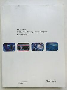 Tektronix Rsa3408b 8ghz Real time Spectrum Analyzer User Manual P n 071 2364 00
