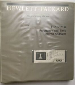 Hp 5371a Frequency Time Interval Analyzer Programming Manual P n 05371 90014