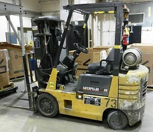 Caterpillar Forklift Truck Gc20 3 Stage Cab 3500 Lbs 3474 Hours Wvs 73