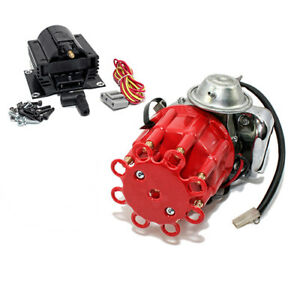 318 340 360 Small Block Dodge Plymouth Electronic Distributor W Black Coil