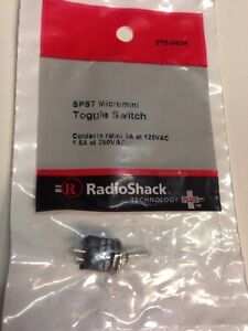 Spst Micromini Toggle Switch 275 0624 By Radioshack