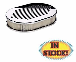 Billet Specialties 15320 Small Ball Milled Oval Air Cleaner small Polished