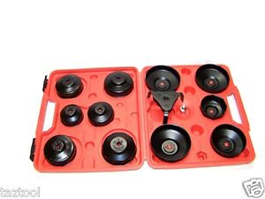 13 Pc Oil Filter Cap Wrench Oil Filter Socket Set Remover Installer Sockets New