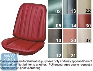 1966 Chevelle Red Front Buckets Seat Covers Pui