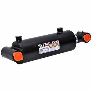 Hydraulic Cylinder Welded Double Acting 4 Bore 14 Stroke Cross Tube 4x14 New