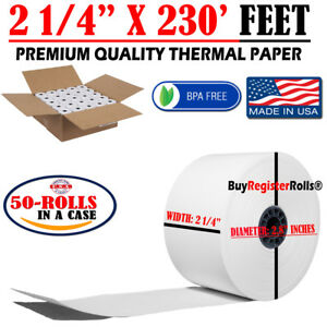 2 1 4 X 230 50 Rolls Thermal Paper Same Day Free Shipping Buyregisterrolls