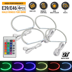 Multi color Rgb Led Angel Eye Halo Rings For Bmw E39 E46 3 5 7 Series Headlight