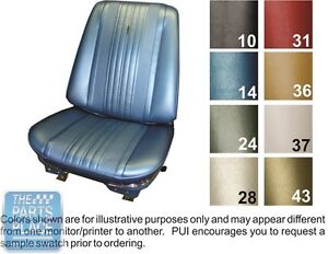 1970 Chevelle Bright Blue Front Buckets Seat Covers Pui
