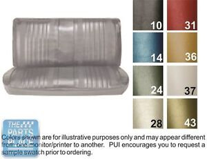 1970 Chevelle Pearl Front Bench Seat Covers And Coupe Rear Pui