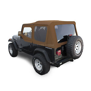 Jeep Wrangler Yj Soft Top 88 95 Upper Doors Tinted Windows Spice Denim