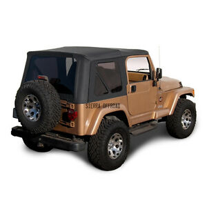 Jeep Wrangler Tj Soft Top Replacement 1997 2002 W Tinted Windows Black Denim