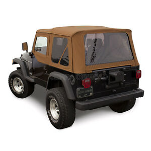 Jeep Wrangler Tj Soft Top 97 02 Upper Doors Tinted Windows Spice