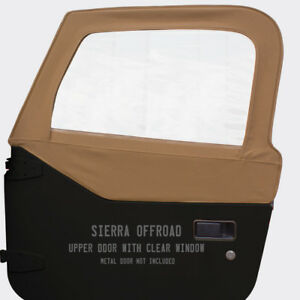 Jeep Tj Wrangler Upper Door Skins For 97 06 Sold In Pairs Spice Sailcloth