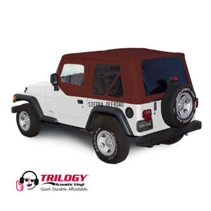 Jeep Wrangler Tj Soft Top 2003 06 Tinted Windows Bordeaux Twill Upper Doors