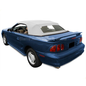 Mustang Convertible Top 94 04 In White Sailcloth With Heated Glass Window
