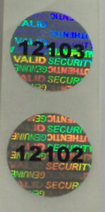 500 Svag Round Security Hologram Label Tamper Evident 20mm Sticker Seals
