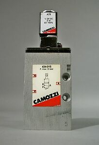 Camozzi 434 015 Solenoid Valve W A73 Valve Attachment Used