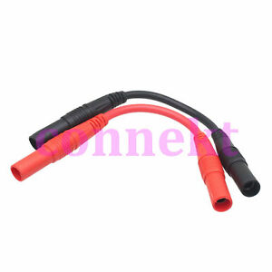 1pair 4mm Banana Female To Jack 0 9mm Cable Leads 15a Socket Copper Test Probes
