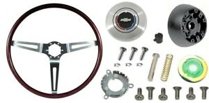 1969 Camaro Rosewood Steering Wheel Kit Without Tilt Steering