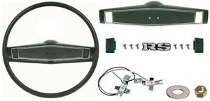 1969 1970 Camaro Chevelle Deluxe Steering Wheel Kit W rs Center Cap Dark Green