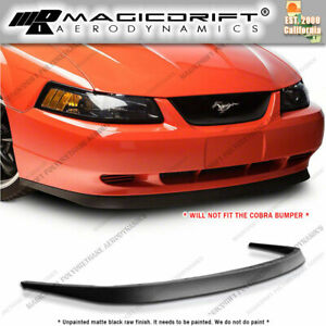 For 99 04 Mustang Mach 1 Chin Spoiler Cbr Style Front Bumper Lip Kit Gt Svt Pu