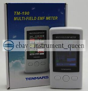 Tenmars Tm 190 Emf Meter Gauss 3 axis Magnetic Electric Rf Field Strenght